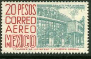 MEXICO C268 $20P 1950 Def 6th Issue Fosforescent unglazed NH