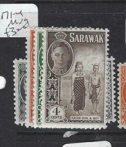 SARAWAK  (P2704B)  KGVI 1C-4C  SG 171-4   MOG