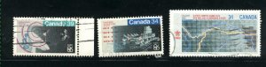 Can #1077-79  used VF 1986 PD