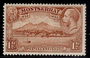 MONTSERRAT GV SG86, 1½d red-brown, LH MINT.