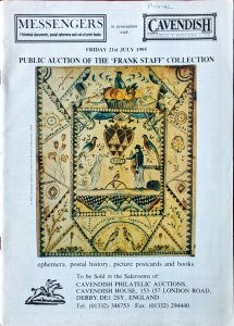 Auction Catalogue The FRANK STAFF COLLECTION Transatlantic Mail Penny Post etc.