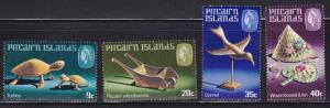 Pitcairn Island 1980 Handycrafts complete (4).Stamps Show Wood Carving VF/NH