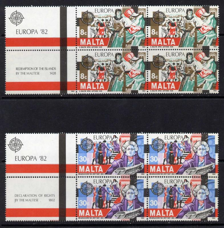 Malta 614-5 Blocks+Labels MNH EUROPA