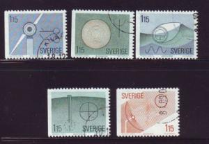 Sweden Sc1313-7 1980 Renewable Energy stamps used