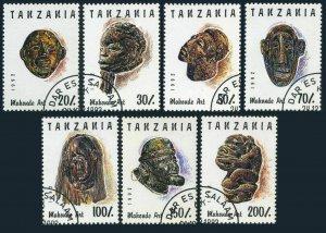 Tanzania 985A-985G,CTO.Michel 1437-1443. Various carved faces,1992.