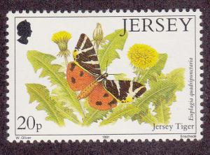 Jersey # 569, Jersey Tiger (Butterfly), Mint NH