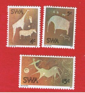 South West Africa #367-369  MNH OG   Carvings   Free S/H