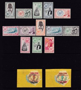 Sierra Leone the Independence set MH + 2 other used