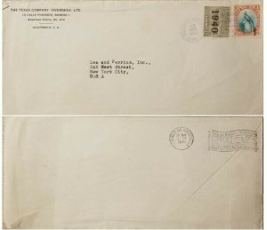 A) 1940, GUATEMALA, FROM PUERTO BARRIOS TO NEW YORK-UNITED STATES, POST OFFICE B