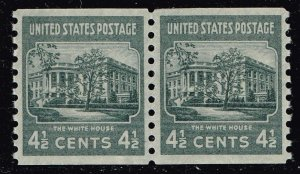 US STAMP #844 – 1939 4 1/2c White House, dark gray MNH/OG SUPERB