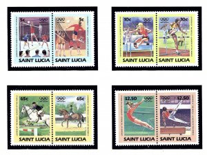 St Lucia 665-68 MNH 1984 Olympics (KA)