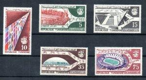 1967 - Tunisia - Mediterranean Sport Games, Tunis- Stadium - Compl.Set 5v.MNH**
