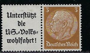 Germany Scott # 416, label A8b, mint hr, se-tenant, Mi # W75