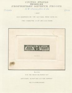 #RS53P1 DIE PROOF ON INDIA, DIE SUNK ON CARD WITH SOME TONING (EX-JOYCE) BQ3183