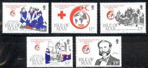 Isle of Man Sc# 403-407 MNH 1989 Red Cross 125th