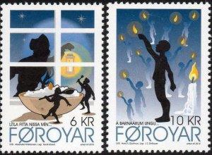 Faroe Islands 2010 #546-7 MNH. Christmas