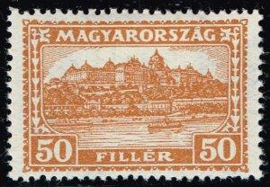 HUNGARY STAMP 1929 Royal Palace, Budapest 50F MH/OG