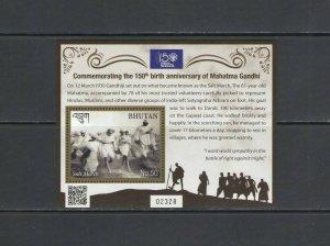 BHUTAN: New Issue / ***GANDHI-150th BIRTH ANNIVERSARY***/ Sheet of 1 / MNH