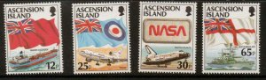 ASCENSION SG709/12 1997 FLAGS MNH