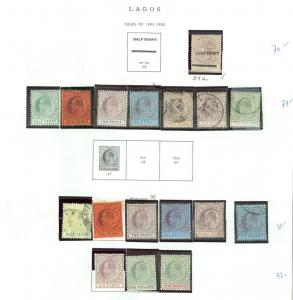 EDW1949SELL : LAGOS Very nice Mint & Used collection many Better values Cat $563
