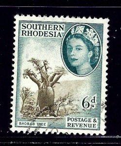 Southern Rhodesia 87 Used 1953 Baobab Tree    (ap1107)