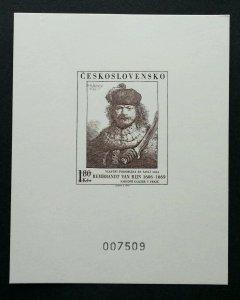 Czechoslovakia 1973 (souvenir card) MNH  *serial no: 007509