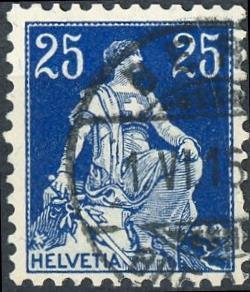 Switzerland #133 25c Helvetia Used/H