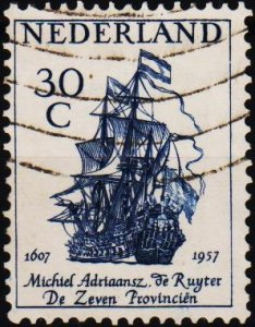 Netherlands. 1957 30c. S.G.849 Fine Used