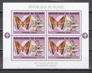 Guinea, 2006 issue. Scouts & Butterflies, 4500 values, sheet of 4.