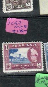 MALAYA  TRENGGANU  (P1606B)  $1.00     SG 7      MNH