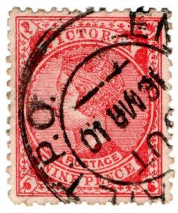 (I.B) Australia Postal : Victoria 9d (English Mail TPO)