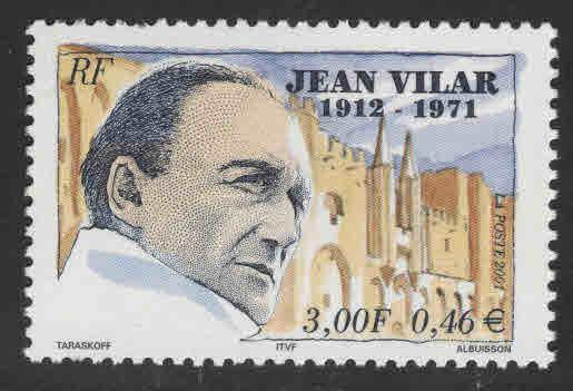 France Scott  2827  MNH** Jean Vilar stamp
