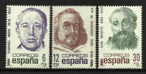 Spain 1981 Scott# 2239-2241 MNH
