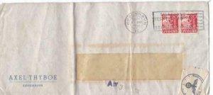 denmark 1941 folded geoffnet censor stamps cover ref r15606