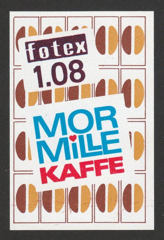 REKLAMEMARKE DENMARK POSTER STAMP FOTEX MOR MILLE KAFFEE CAFE COFFEE