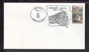 Centennial Lakota,IA 1992 Cancel Cover BIN