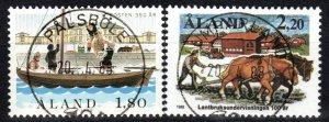 Finland  Aland Islands #29-30  F-VF Used CV $4.25 (X1030)