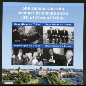 Madagascar 2021 60th Ann of JFK/Krushchev Summit imperf sheet mint never hinged