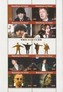 Chad - 2019 The Beatles John Paul George Ringo - 8 Stamp Sheet - 3B-739