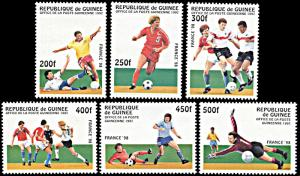 Guinea 1382-1387, MNH, 1998 World Cup Football Championship in France