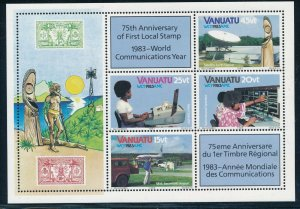 Vanuatu -  MNH Sheet Wold Communication Year (1983)