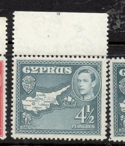 Cyprus 1938 Early Issue Fine Mint hinged Marginal 4.5p. 303650