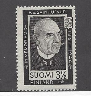 Finland, 245, Pres. P.E. Svinhufvud - 80th B-Day Single,  **VLH**