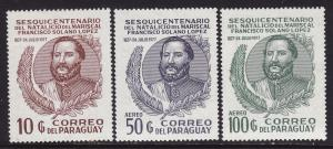 Paraguay #1752-54 F-VF Mint NH ** Marshal Lopez