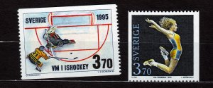 J22890 JLstamps 1995 sweden set mnh #2114-5 sports