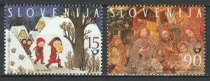 Slovenia 1998 Christmas 2 MNH stamps