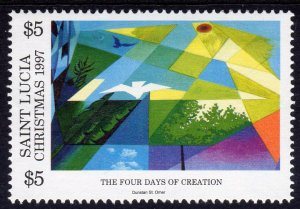 St.Lucia 1997 Sc#1083 The Four Days of Creation - Christmas $5.00 value MNH