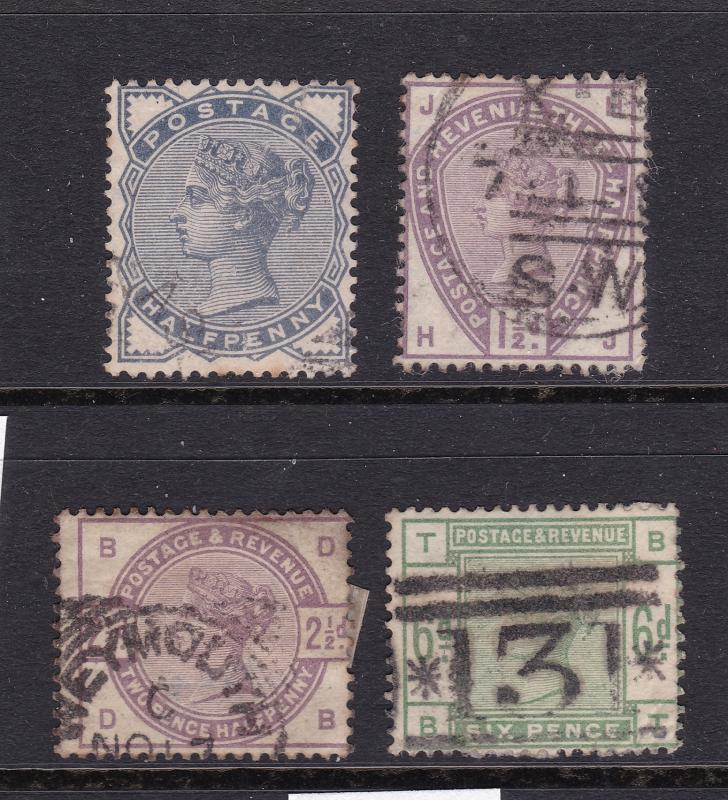 Great Britain x 4 QV from 1980-83 used & a QV 2/6