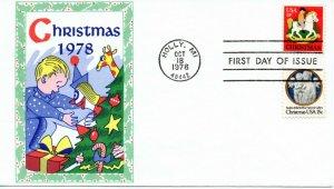 US FDC #1768-1769 Christmas, Gamm (4619)