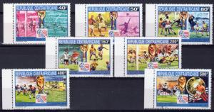 Central African Republic 1993 Sc# 1007/1014  World Cup USA Set (8)  Perforated